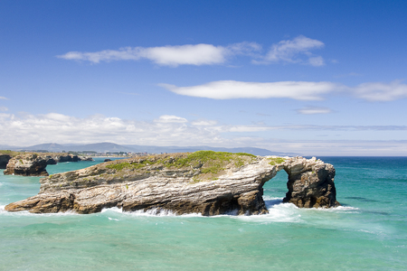 cantabrian: Beach of Las Catedrales or As Catedrais, Ribadeo, Galicia, Spain