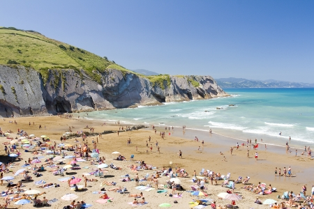 basque country: Beach of Zumaia, Basque country, Spain