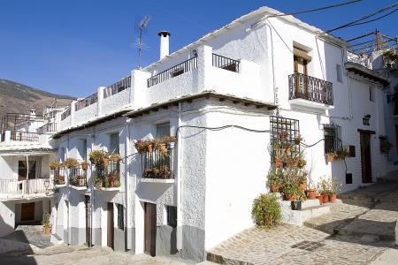 sierra: Town of Capileira in La Alpujarra Granadina, Sierra Nevada, Spain Stock Photo