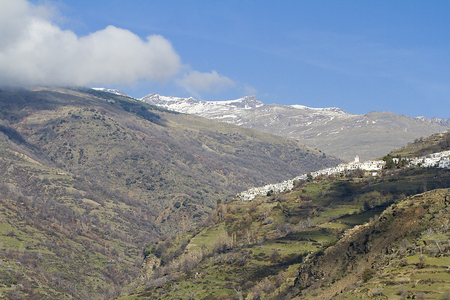 Town of Capileira in La Alpujarra Granadina, Sierra Nevada, Spain photo