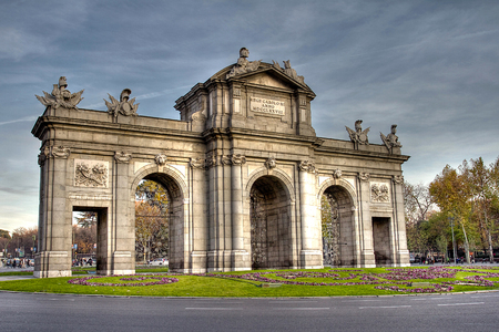 Puerta de Alcala in Independence Square, Madrid, Spain photo