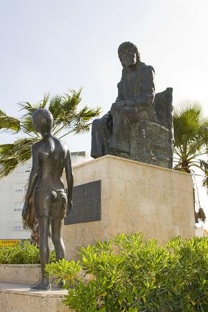 Statue of Camaron de la Isla in San Fernando, Spain