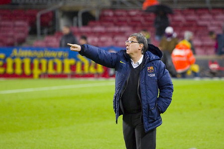Gerardo Tata Martino, coach of FCB, at Spanish Cup match between FC Barcelona and Levante, 5-1, under an intense rain, on January 29, 2014, in Barcelona, Spain
