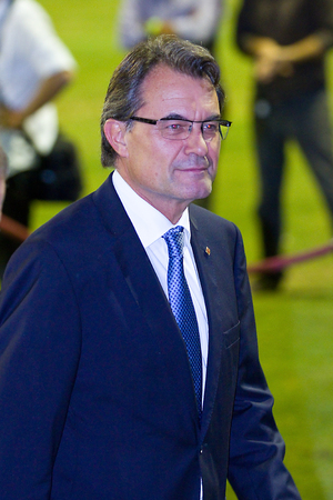 mas: Artur Mas, president of Catalonia, at the CSIO 100th International Jumping Competition, on September 23, 2011, in Real Club de Polo, Barcelona, Spain Editorial