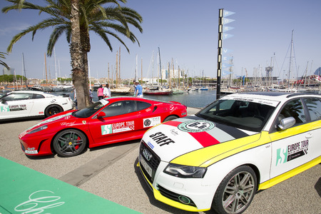 moll:  Some cars at 6to6 Barcelona Motordays, an automotive feast of supercars and luxury brands, on June 7, 2014, in Moll de la Fusta, Barcelona, Spain