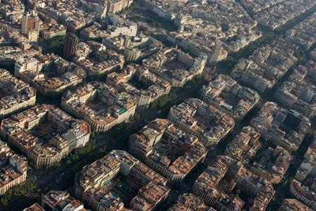 barcelone: Vue aérienne de Barcelone, Espagne