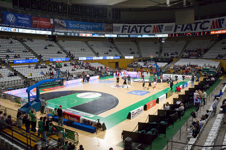 professional basketball league: View of Joventut Olympic Stadium before the Spanish Basketball League match between Joventut and Zaragoza, final score 82-57, on April 13, 2014, in Badalona, Spain