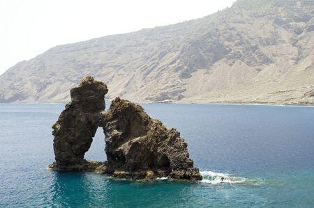 bonanza: Roque de Bonanza in El Hierro, Canary islands, Spain Stock Photo