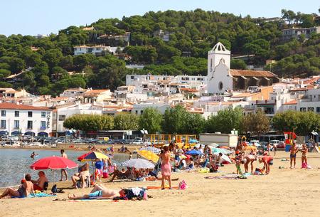selva: Beach of Port de la Selva, Catalonia, Spain Editorial