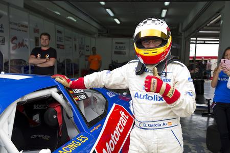 garcia: Borja Garcia compete at Race 1 Elite 1 of Nascar Whelen Euro Series in Ricardo Tormo circuit on April 25 2015 in Cheste Valencia Spain. The winner was Eddie Cheever
