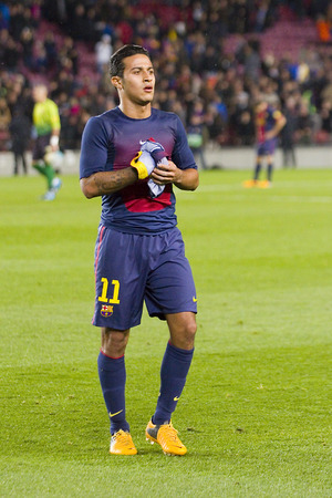 barsa: Thiago Alcantara of FCB at the Spanish League match between FC Barcelona and Osasuna final score 5  1 on January 27 2013 in Barcelona Spain