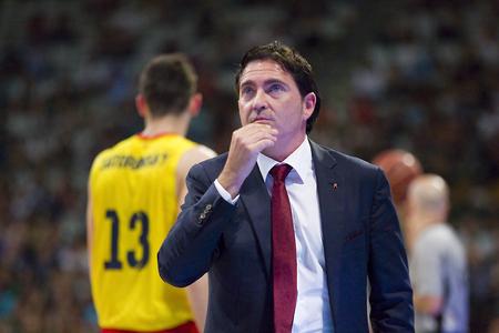 xavi: Xavi Pascual coach of FCB at Spanish ACB Basketball League match between Joventut Badalona and FC Barcelona final score 7480 on May 30 2015 in Badalona Spain