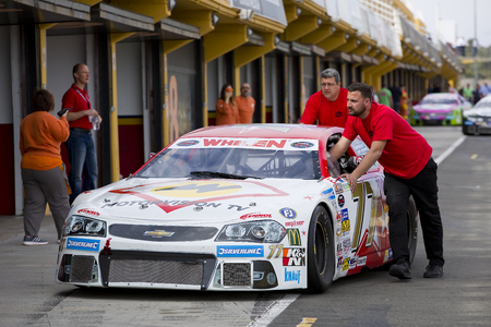 Luke: Luke Wright compete at Race 1 Elite 1 of Whelen Nascar Euro Series in Ricardo Tormo circuit, on April 25, 2015, in Cheste, Valencia, Spain. The winner was Eddie Cheever Editorial