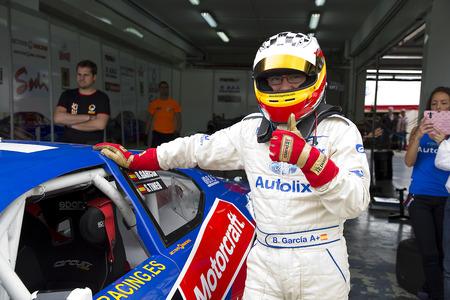 garcia: Borja Garcia compete at Race 1 Elite 1 of Nascar Whelen Euro Series in Ricardo Tormo circuit, on April 25, 2015, in Cheste, Valencia, Spain. The winner was Eddie Cheever Editorial