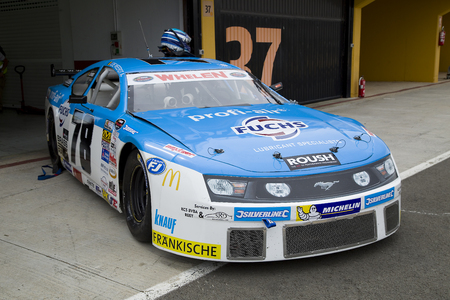 nascar: Jerry De Weerd compete at Race 1 Elite 1 of Whelen Nascar Euro Series in Ricardo Tormo circuit, on April 25, 2015, in Cheste, Valencia, Spain. The winner was Eddie Cheever