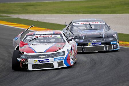 nascar: Dominic Tiroch L compete at Race 1 Elite 1 of Whelen Nascar Euro Series in Ricardo Tormo circuit, on April 25, 2015 in Cheste, Valencia, Spain. The winner was E. Cheever