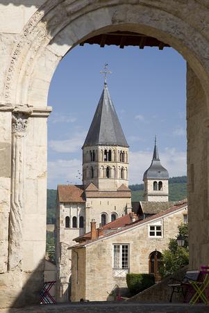 the abbey: Cluny Abbey, Burgundy, France
