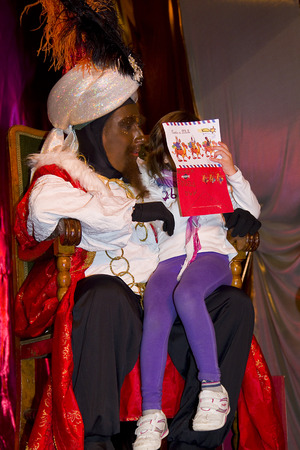 melchor: Biblical Magi, who receive letters from children and so bring them gifts on the night before. Is a traditional spanish celebration. January 5, 2012 in Alella, Barcelona