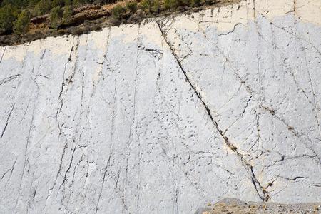 Dinosaur footprints in Fumanya, Spain. Stock Photo - 94972740