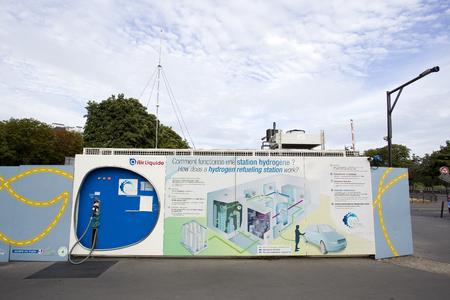 Wasserstoffstation in Paris.