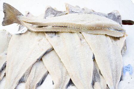 Dried and salted cod.