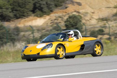 A Renault Spider take part in Road and Track racing weekend organized by American Car Club, on October 7, 2012, in the airport of La Seu Urgell, Spain.