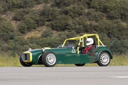 A Garbi Cobra Car take part in Road and Track racing weekend organizated by American Car Club, on October 7, 2012, in La Seu d'Urgell, Spain.