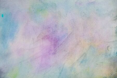 Abstract painted colorful watercolor background - violet, green, blue, yellow colors Stockfoto