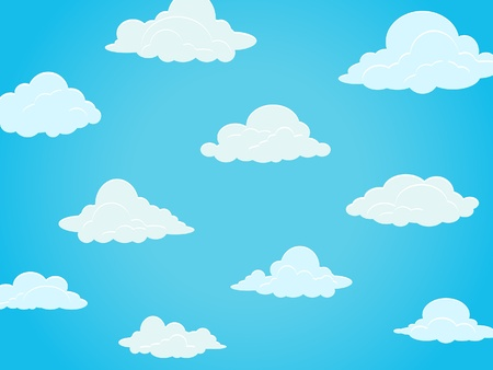 Group of clouds on a blue sky Vector