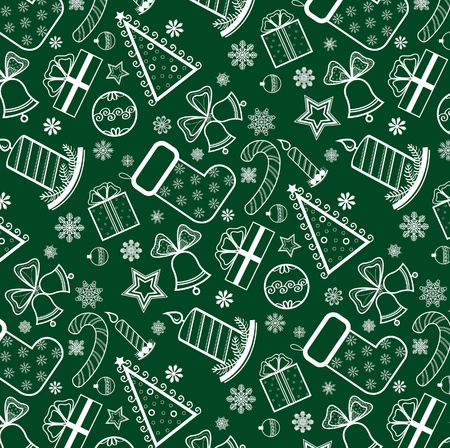 Green Christmas wallpaper with new year theme Vector