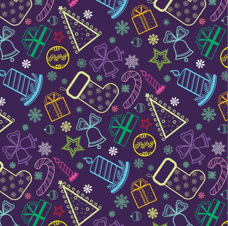 Colored Christmas wallpaper with new year thems Vector