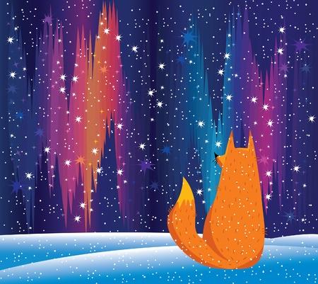 luces del norte y el zorro rojo