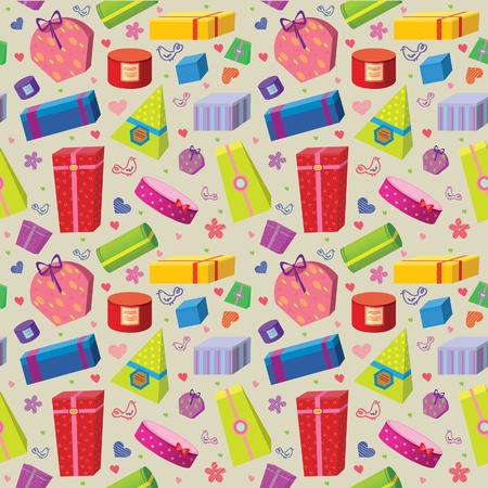 wallpaper with colored gifts Stock Vector - 11209971