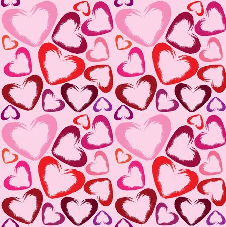valentin: Vector wallpaper with colored hearts