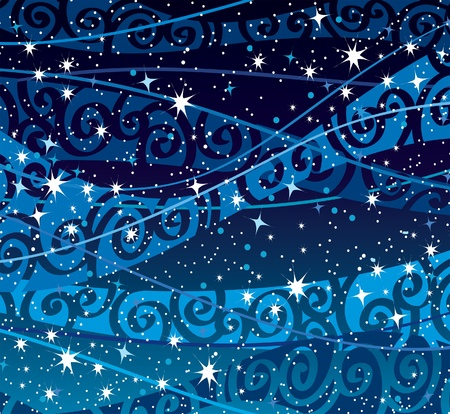 starry night: Vector night sky with stars