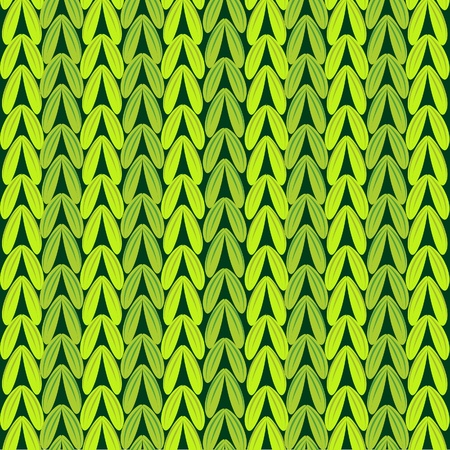 woven: Seamless green knitted wool sweater texture  Illustration