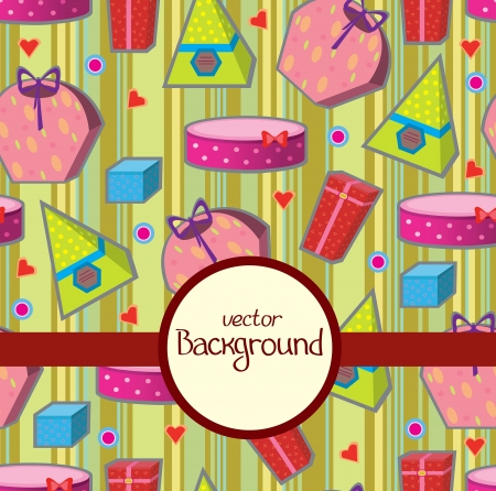 Vector wallpaper with colored gifts Vector