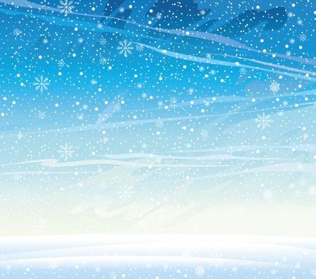 Winter natuur landschap met sneeuwval