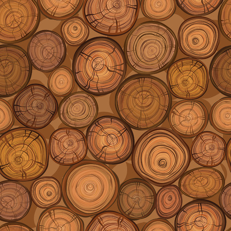 rings on a tree: Seamless wood texture of cut tree trunk