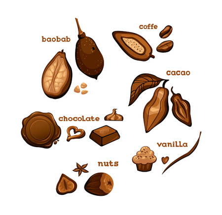 baobab: Set of sweet cooking ingredients