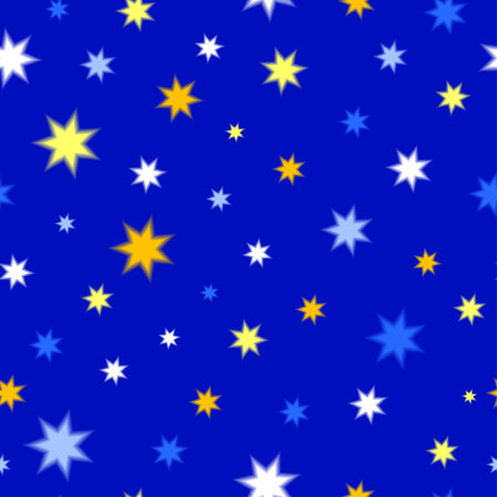 starfall: Seamless texture of colored stars Illustration
