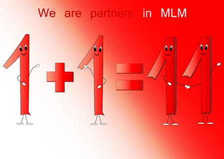 equals: Illustration der Nummer eins und elf f�r MLM