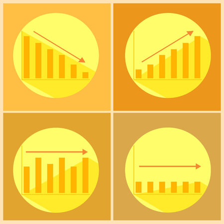 stasis: Illustration of icons with flat graphics Illustration