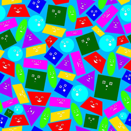 parallelogram: Seamless texture of colored geometric shapes