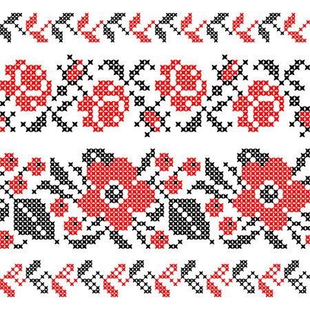 cruz roja: Perfecta textura de planos abstractos flores rojas negras Vectores