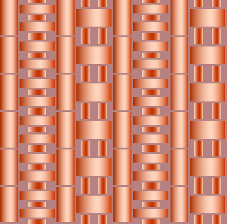 copper: Seamless abstract texture of round copper pipes