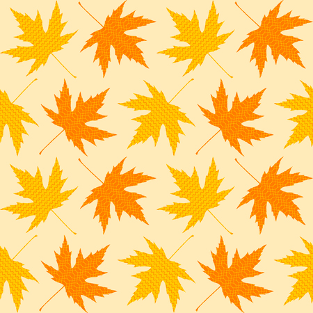 background picture: Seamless textures of autumn leaves with wave patterns