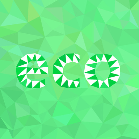 green background: Abstract green background eco.Triangulation