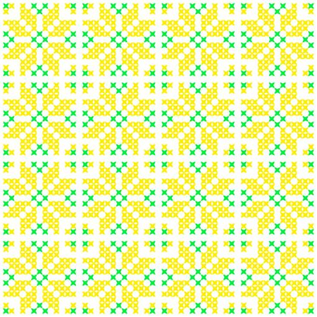 bedcover: Seamless texture with green and yellow abstract patterns for tablecloth.Embroidery.Cross stitch. Illustration