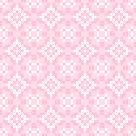 bedcover: Seamless texture with pink and white abstract patterns for tablecloth. Embroidery.Cross stitch. Illustration